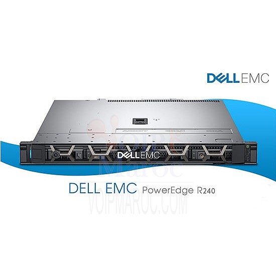 Serveur Rack PowerEdge R240 E-2124 8GB 2*1TB PERC H330 DL-PER240-E-2124A